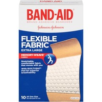 Band Aid® Brand Adhesive Bandages Flexible Fabric Extra Large 10 ct All One Size Premium
