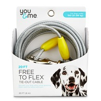 Fresh 'n Clean Free to Flex Tie-out Cable Super 20' Leash
