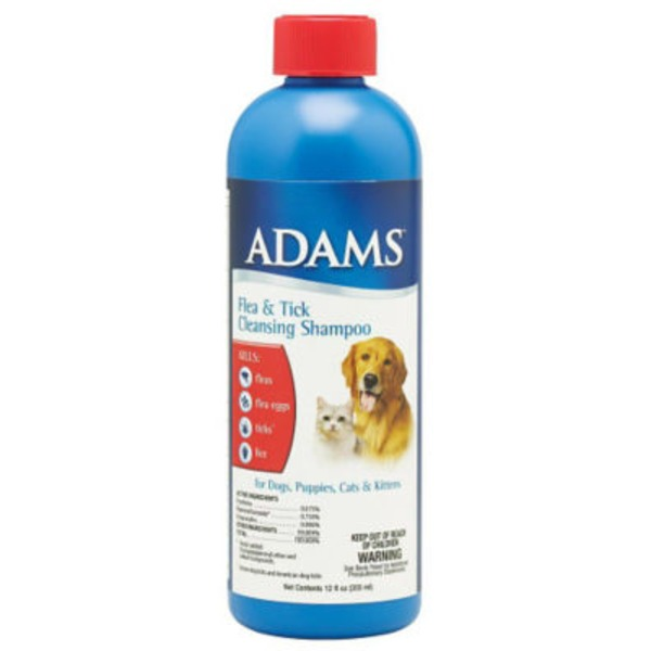 Adams Flea & Tick Cleansing Shampoo, Bottle