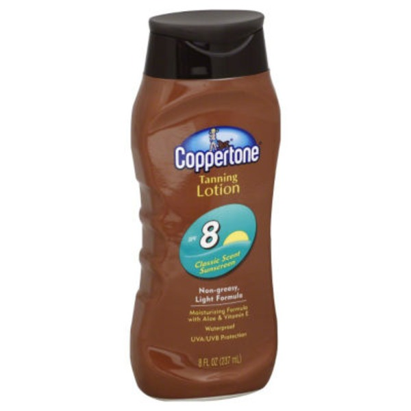 Coppertone Sunscreen SPF 8 Tanning Lotion