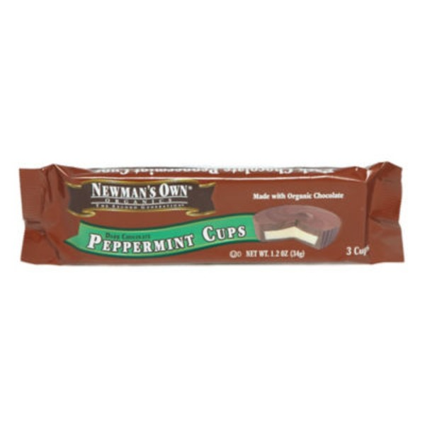 Newman's Own Peppermint Cups Dark Chocolate - 3 CT