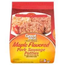 Great Value Maple Flavored Pork Sausage Patties, 24.92 oz