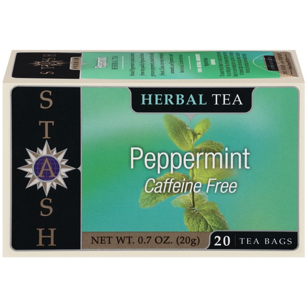 Stash Tea Peppermint Caffeine Free Herbal Tea Bags