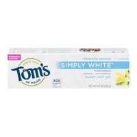 Tom's of Maine Fluoride Toothpaste Natural Simply White Sweet Mint Gel