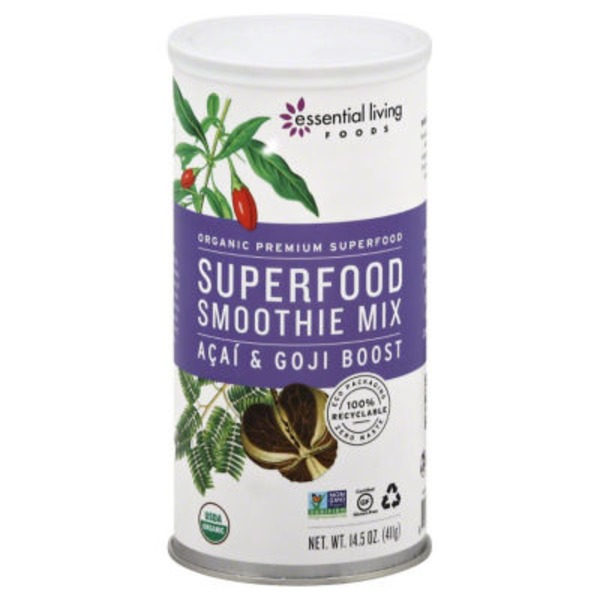 Essential Living Foods Superfood Smoothie Mix Acai & Goji Boost
