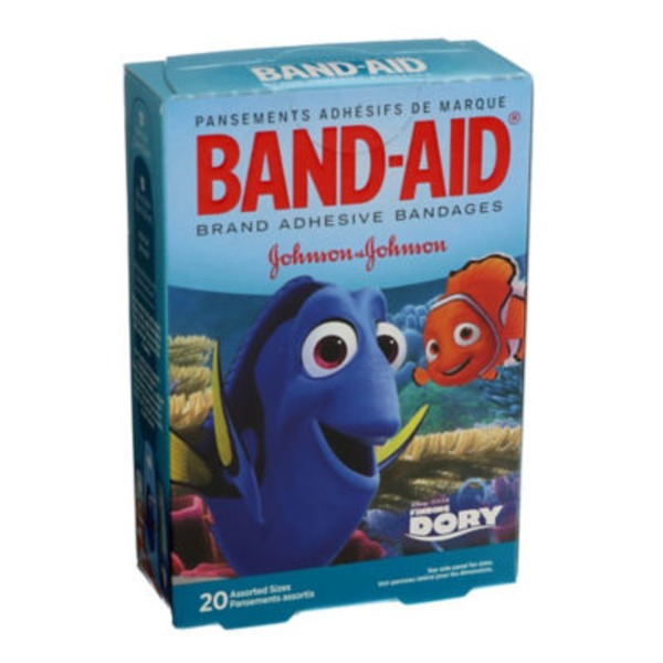 Band Aid® Brand Adhesive Bandages BAND-AID FINDING DORY 20S