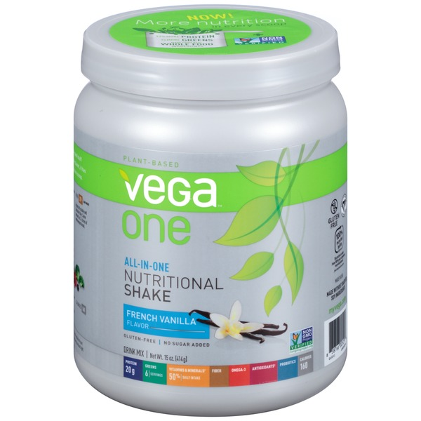 Vega One French Vanilla Nutritional Shake Drink Mix