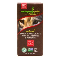 Endangered Species Chocolate Dark Chocolate With Cranberries & Almonds 72% Cocoa
