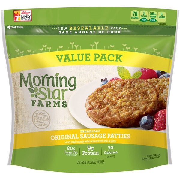 Morning Star Farms Breakfast Original Veggie Sausage Patties