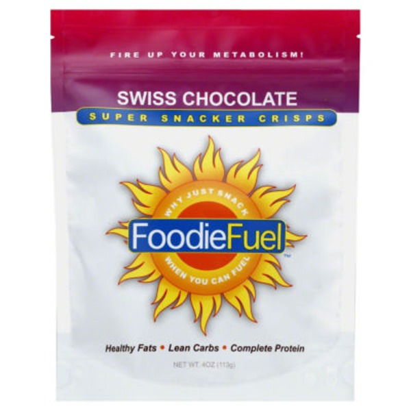 FoodieFuel Snacker Crisps, Super, Swiss Chocolate