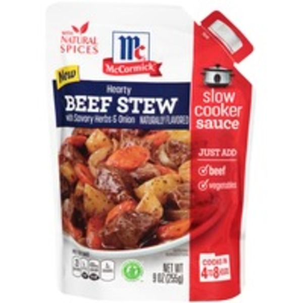 McCormick Hearty Beef Stew with Savory Herbs & Onion Slow Cooker Sauce