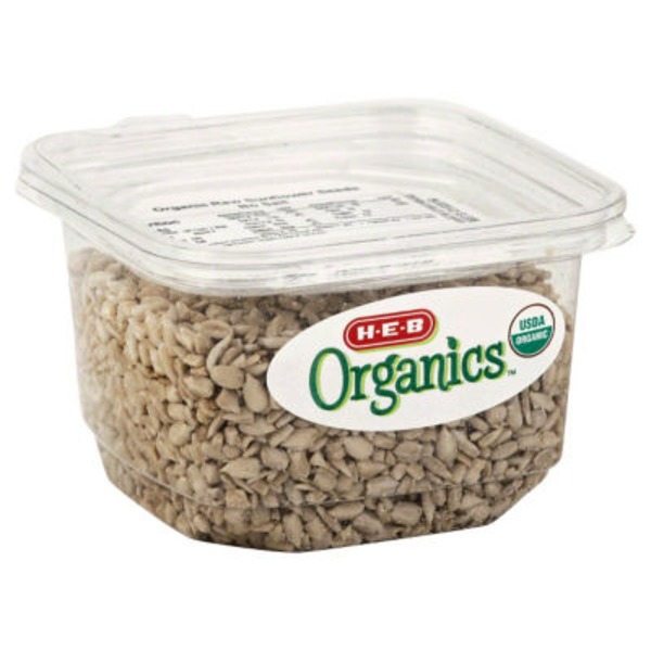 H-E-B Organics Raw Sunflower Seeds, Unsalted