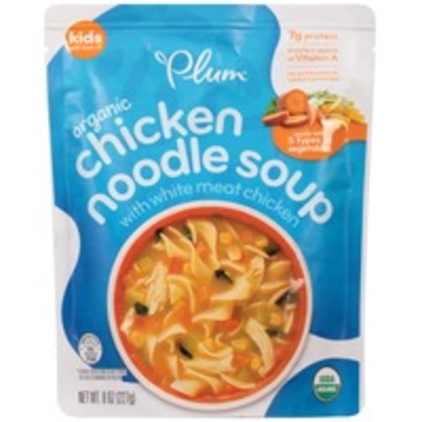 Plum Organics With White Meat Chicken Chicken Noodle Soup