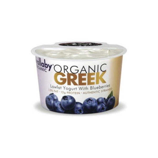 Wallaby Organic Organic Greek Lowfat with Blueberries Yogurt