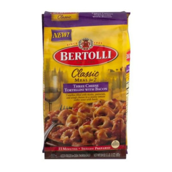 Bertolli Three Cheese Tortellini with Bacon