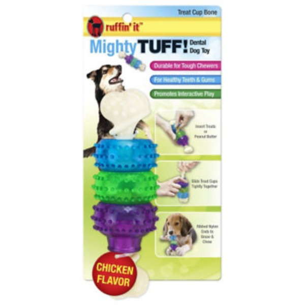Mighty Tuff Treat Cup Bone Dental Dog Toy
