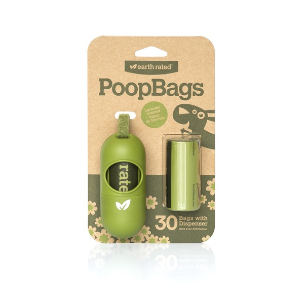 Earth Rated Poop Bags Dog Waste Bag Dispenser Pack Of 2 Rolls 15 Bags Per Roll