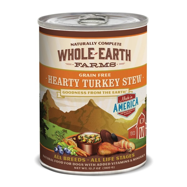 Whole Earth Farms Grain Free Hearty Turkey Stew Canned Dog Food Case Of 12