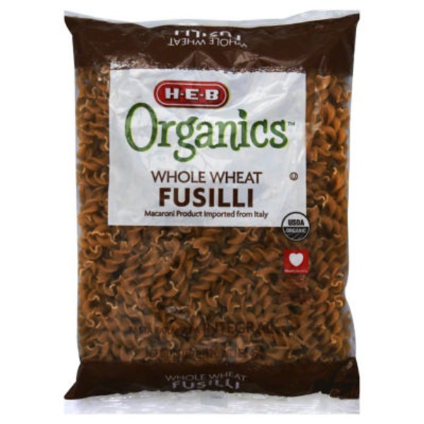 H-E-B Organics Whole Wheat Fusilli