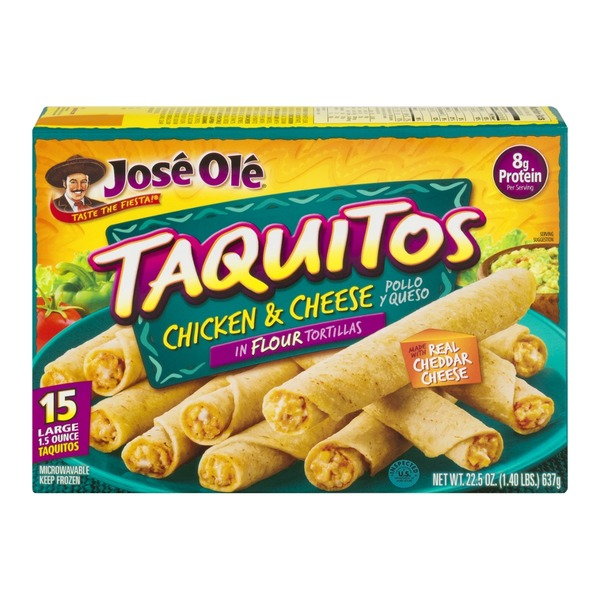 Jose Ole Chicken & Cheese Flour Tortillas Taquitos