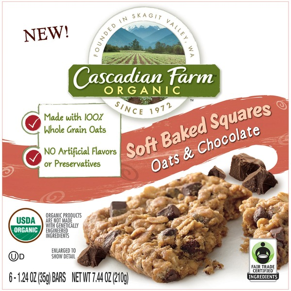 Cascadian Farm Organic Oats & Chocolate Soft Baked Squares