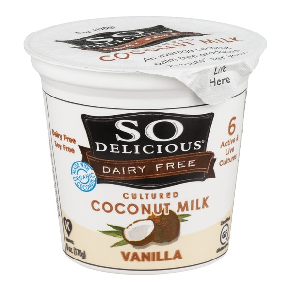 So Delicious Dairy Free Cultured Coconut Milk Vanilla