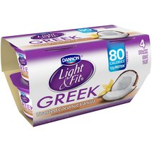 Dannon Light & Fit Toasted Coconut Vanilla Greek Nonfat Yogurt