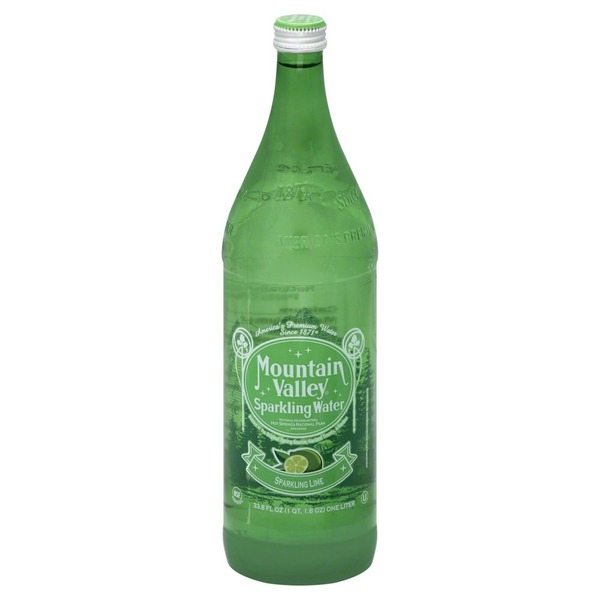 Mountain Valley Water Sparkling Water, Lime, Bottle