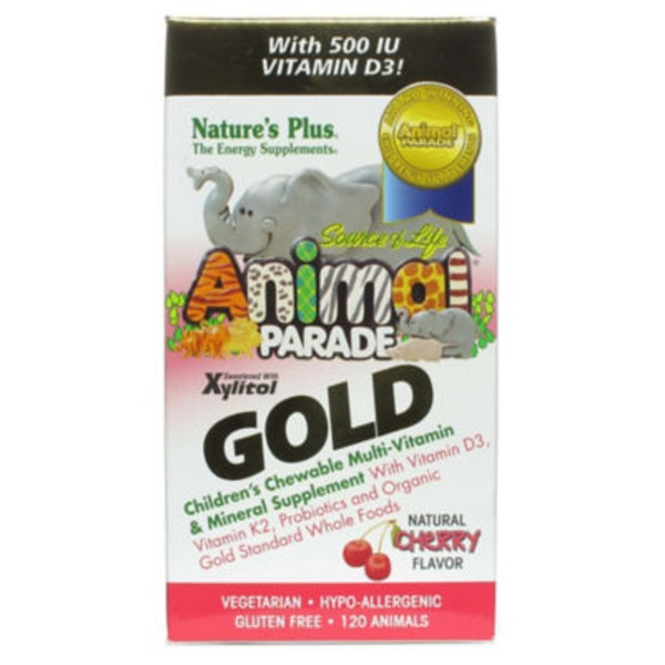 Nature's Plus Animal Parade Gold Children's Cherry Multi Vitamin Chewables