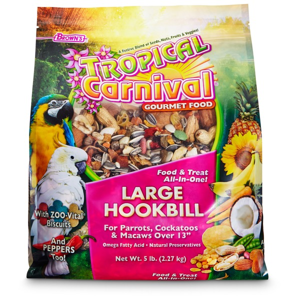 Brown's Tropical Carnival Gourmet Large Hookbill Food 5 Lbs.