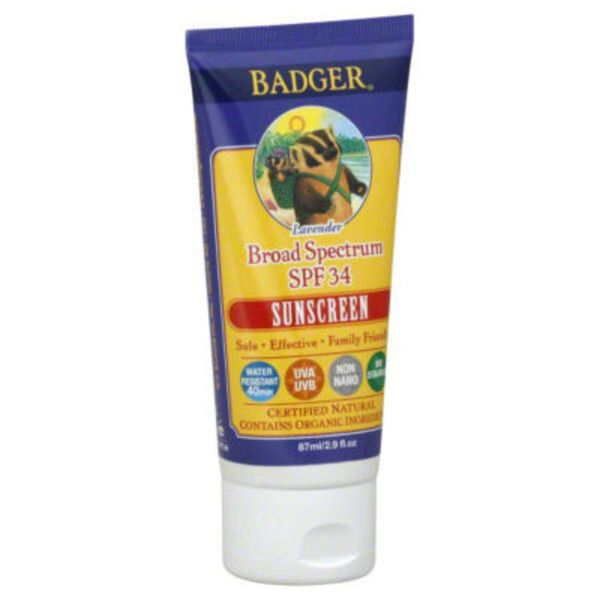 Badger Lavender Broad Spectrum Spf 30  Sunscreen Cream