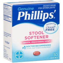 Genuine Phillips'® Stool Softener Liquid Gels 30 ct Box