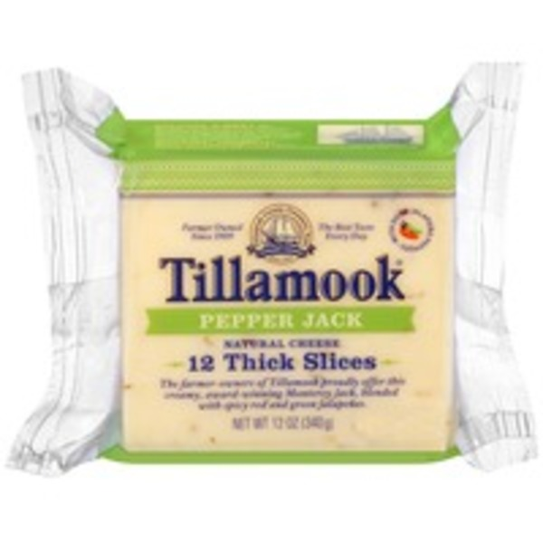 Tillamook Pepper Jack Thick Slices Cheese