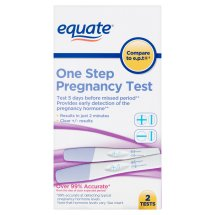 Equate one step pregnancy test, 2 Ct