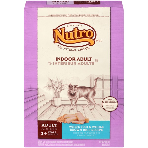 Nutro Wholesome Essentials White Fish & Brown Rice Recipe Indoor Adult Cat Food