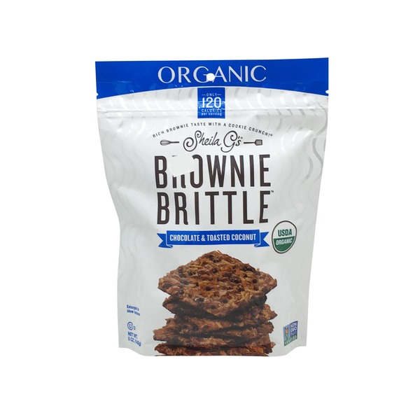 Sheila G's Organic Chocolate Toasted Coconut Brownie Brittle