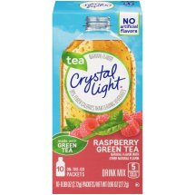 Crystal Light On-The-Go Drink Mix, Rasbery Green Tea, 0.09 Oz, 10 Packets, 1 Count