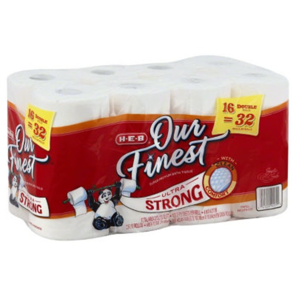 H-E-B Our Finest Ultra Strong Bath Tissue Double Rolls