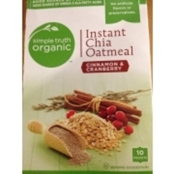 Simple Truth Instant Chia Oatmeal Cinnamon & Cranberry