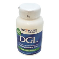 Enzymatic Therapy DGL Fructose Free Sugar Free Digestive Relief Chewable Tablets