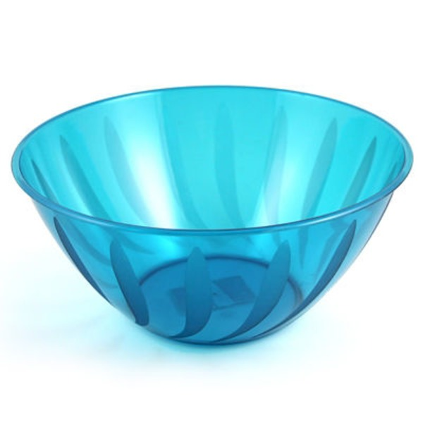 Maryland Plastics Caribbean Blue Swirls Large Bowl