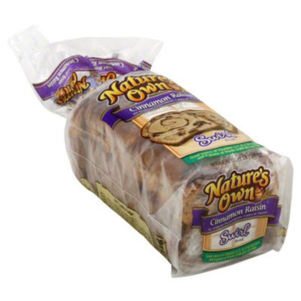 Natures Own Cinnamon Raisin Swirl Bread