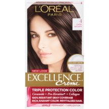 L'Oreal Paris Excellence Creme Hair Color, 4 Dark Brown, 1 Kit