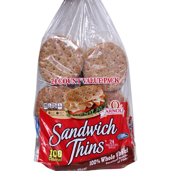 Brownberry/Arnold/Oroweat Sandwich Thins 100% Whole Wheat
