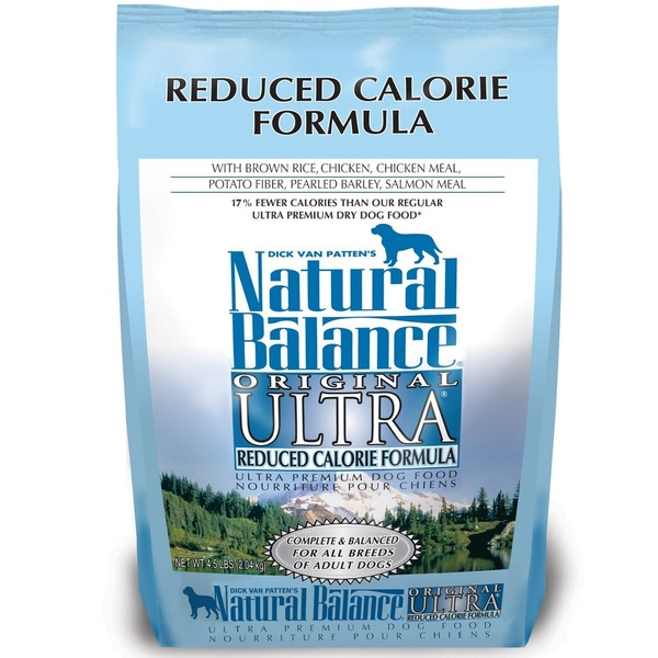 Dick Van Patten's Natural Balance Original Ultra Reduced Calorie Formula Ultra Premium Dog Food Complete & Balanced For All Breeds of Adult Dogs
