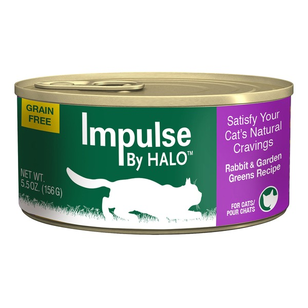 Halo Impulse Rabbit & Greens Canned Cat Food Case Of 12
