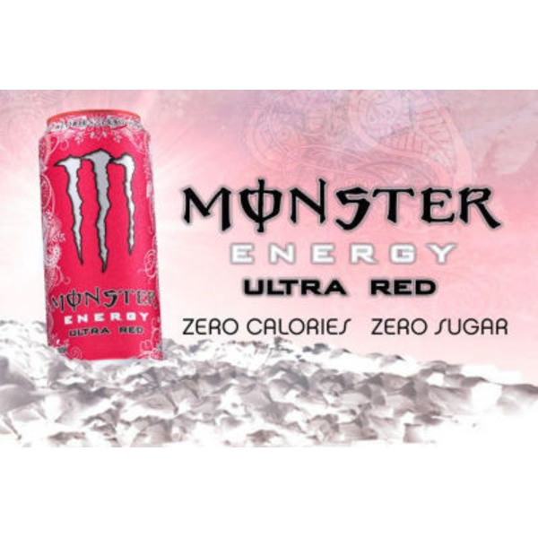 Monster Energy Drink Ultra Red - 4 PK
