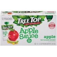 Tree Top Apple Sauce, No Sugar Added, Pouches