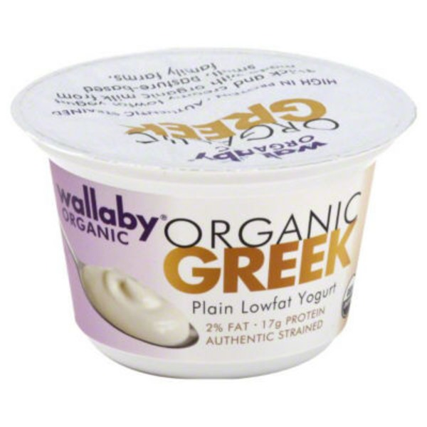 Wallaby Organic Organic Greek Lowfat Plain Yogurt