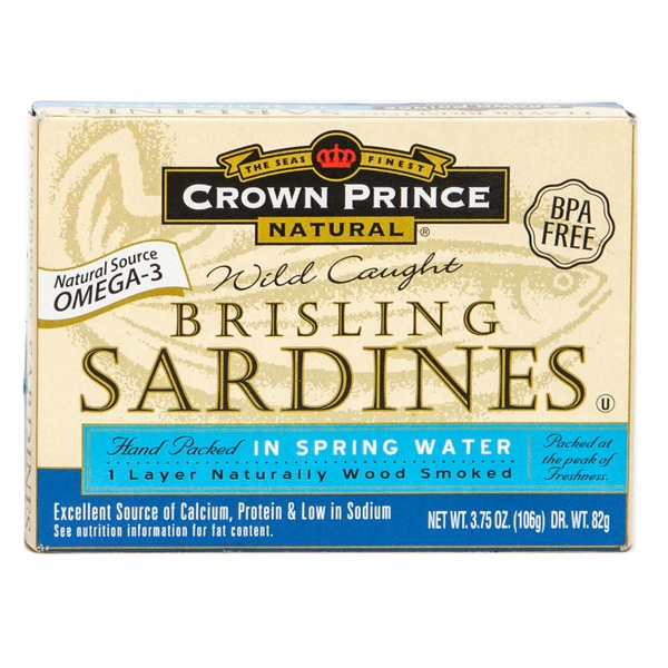 Crown Prince Natural Wild Caught Brisling Sardines In Spring Water